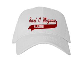 Earl C Mcgraw Elementary School Embroidered Baseball Caps