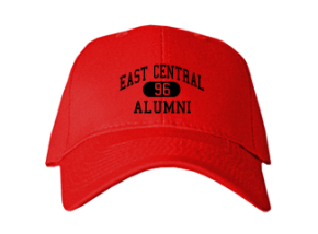 East Central High School Embroidered Baseball Caps