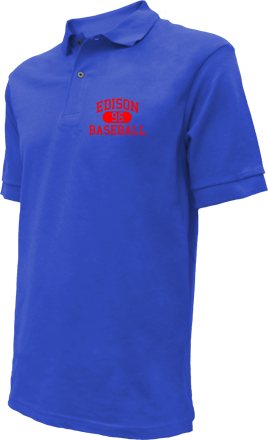 Edison High School Embroidered Polo Shirts