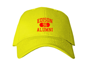 Edison High School Embroidered Baseball Caps