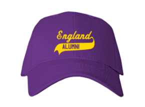 England Middle School Embroidered Baseball Caps