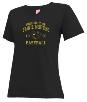 Evan E. Worthing High School V-neck Shirts