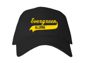 Evergreen Elementary School Embroidered Baseball Caps