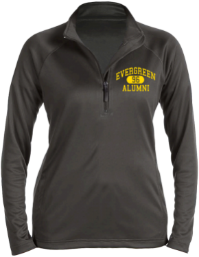 Evergreen Elementary School Stretch Tech-Shell Compass Quarter Zip