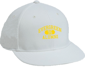 Evergreen Elementary School Flat Visor Caps