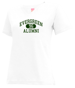 Evergreen High School V-neck Shirts