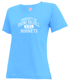 Ewing Halsell Junior High School V-neck Shirts