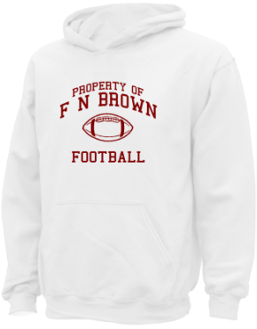 F N Brown Elementary School Kid Hooded Sweatshirts