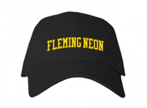 Fleming Neon High School Kid Embroidered Baseball Caps