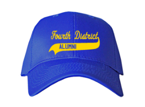 Fourth District Elementary School Embroidered Baseball Caps