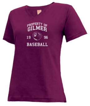 Gilmer High School V-neck Shirts