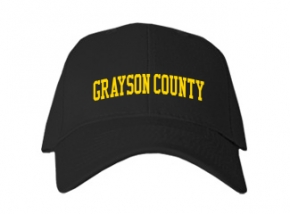 Grayson County High School Kid Embroidered Baseball Caps