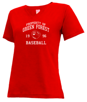 Green Forest High School V-neck Shirts