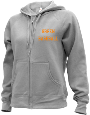 Green High School Zip-up Hoodies