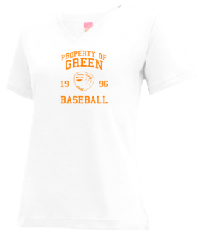 Green High School V-neck Shirts