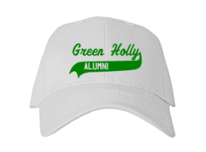 Green Holly School Embroidered Baseball Caps