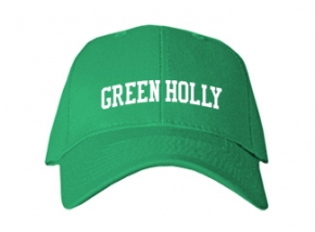 Green Holly School Kid Embroidered Baseball Caps
