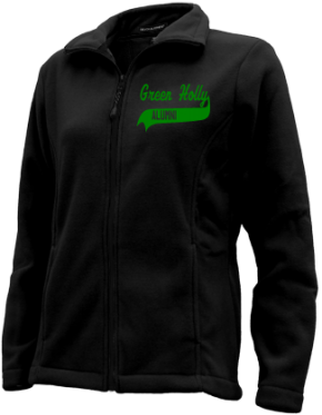 Green Holly School Embroidered Fleece Jackets