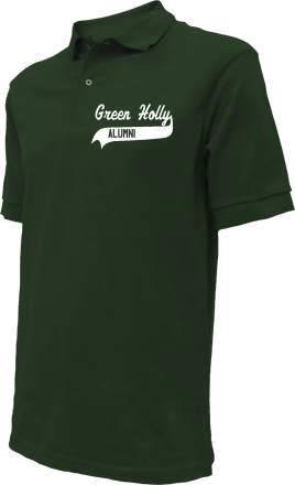 Green Holly School Embroidered Polo Shirts