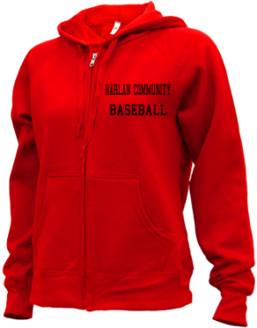 Harlan Community High School Zip-up Hoodies