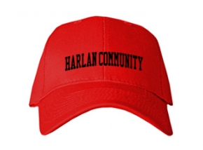 Harlan Community High School Kid Embroidered Baseball Caps