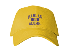 Harlan Elementary School Embroidered Baseball Caps