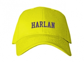 Harlan Elementary School Kid Embroidered Baseball Caps