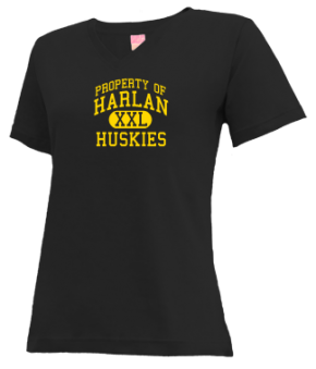 Harlan Elementary School V-neck Shirts