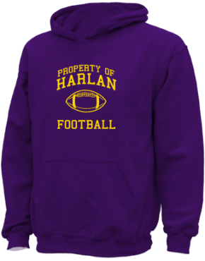 Harlan Elementary School Kid Hooded Sweatshirts