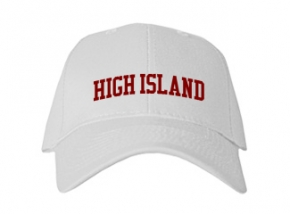 High Island High School Kid Embroidered Baseball Caps