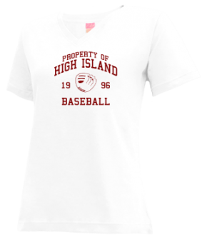 High Island High School V-neck Shirts