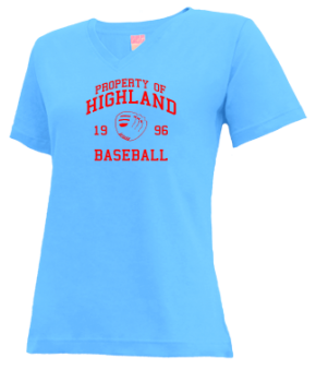 Highland High School V-neck Shirts
