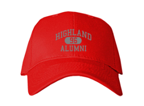 Highland High School Embroidered Baseball Caps