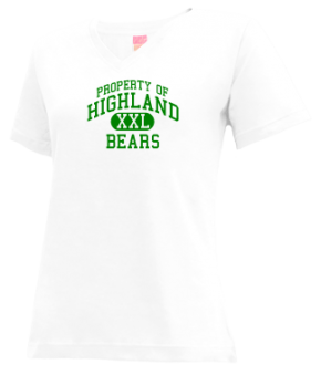 Highland Junior High School V-neck Shirts