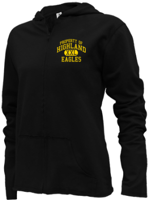 Highland Middle School Girls Zipper Hoodies