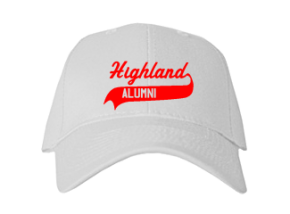 Highland Middle School Embroidered Baseball Caps