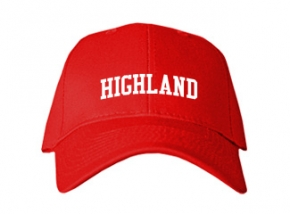 Highland Middle School Kid Embroidered Baseball Caps