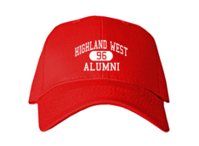Highland West Junior High School Embroidered Baseball Caps