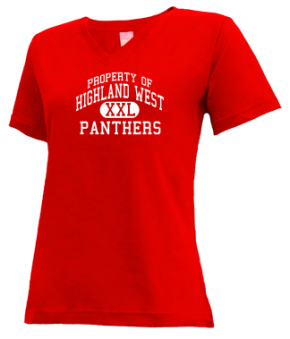 Highland West Junior High School V-neck Shirts