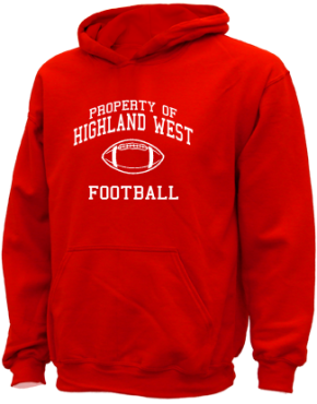 Highland West Junior High School Kid Hooded Sweatshirts