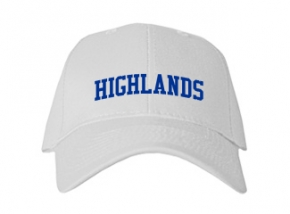 Highlands High School Kid Embroidered Baseball Caps