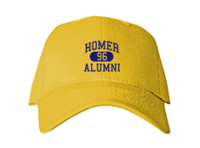 Homer High School Embroidered Baseball Caps