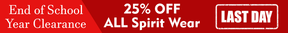 End of Year Clearance - 25% OFF All Spirit Wear