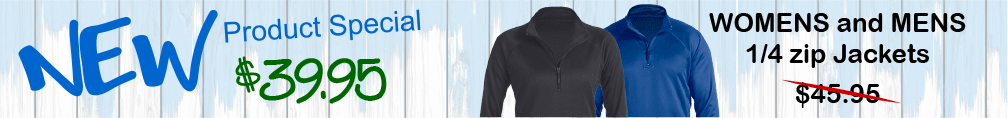 New Womens and Mens 1/4 zip jackets!
