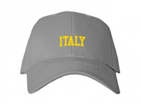 Italy High School Kid Embroidered Baseball Caps