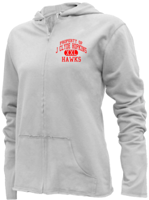 J Clyde Hopkins Elementary School Girls Zipper Hoodies