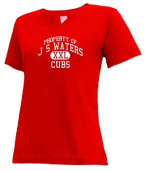 J S Waters Elementary School V-neck Shirts