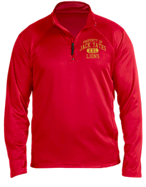 Jack Yates High School Stretch Tech-Shell Compass Quarter Zip
