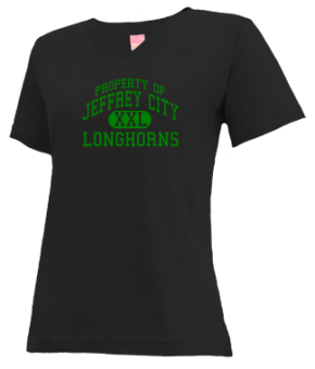 Jeffrey City Elementary School V-neck Shirts