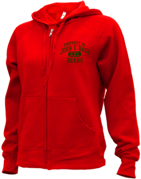 John C Bass Elementary School Zip-up Hoodies